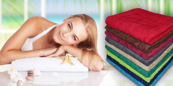 Hebkost froté v jedné sadě: 2 ručníky a osuška