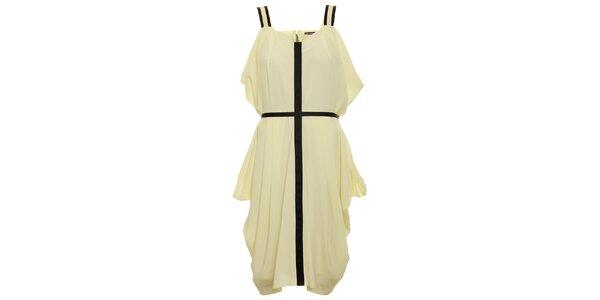 Dámské bílé šaty s černým křížem Pietro Filipi