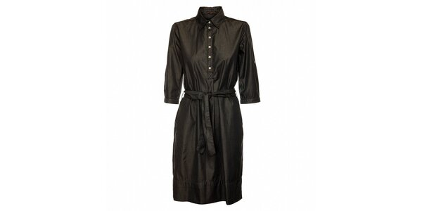 Dámské černé bavlněné šaty Pietro Filipi