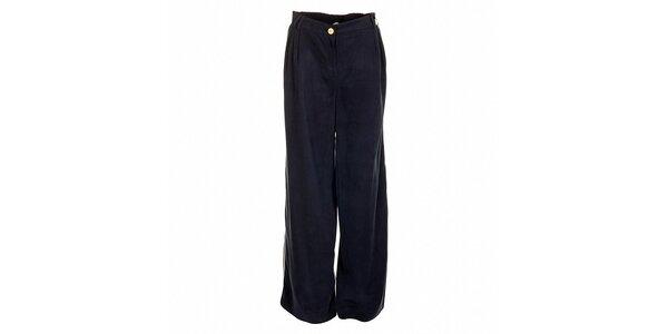 Široké dámské tmavě modré kalhoty