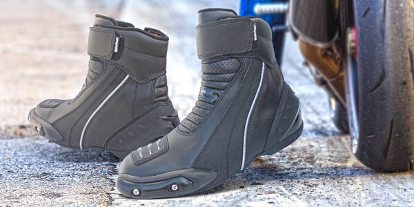 Motorkářské boty Peru s chrániči prstů a paty