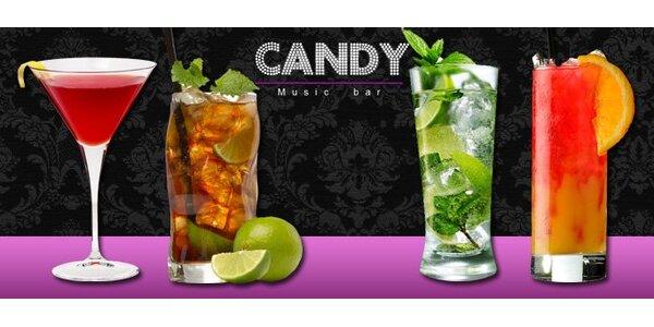 79 Kč za dva koktejly dle výběru v Music baru Candy.