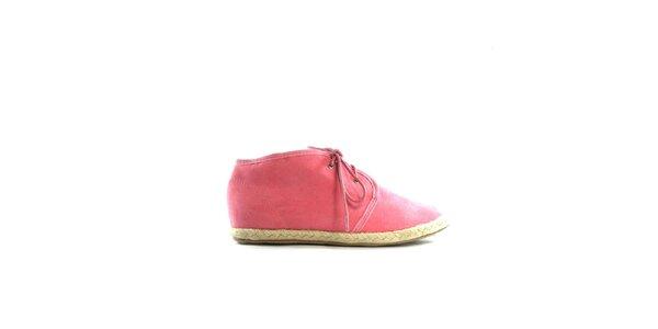 Dámské růžové semišové tenisky Shoes in the City