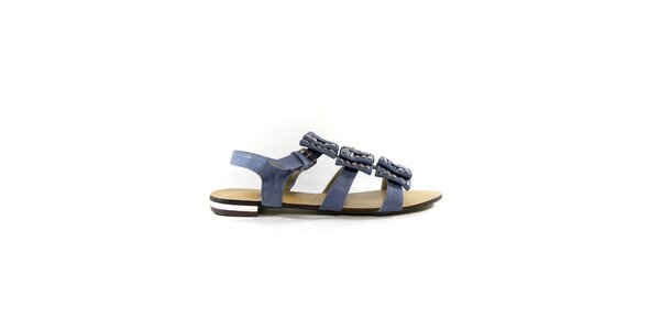 Dámské šedo-modré gladiátorky s cvočky Shoes in the City