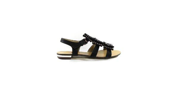 Dámské černé gladiátorky s cvočky Shoes in the City