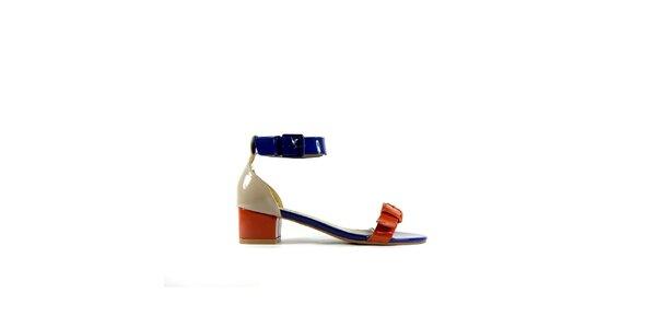 Dámské červeno-modré lakované sandálky Shoes in the City