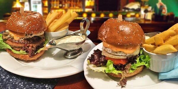 Výtečný burger ve 3 variantách – i bez masa