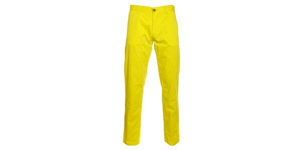 Pánské kanárkově žluté chino kalhoty Pietro Filipi