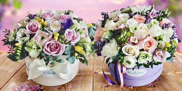Art flower box: krabice s čerstvými květinami