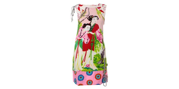 Dámské bílé šaty Savage Culture s gejšami