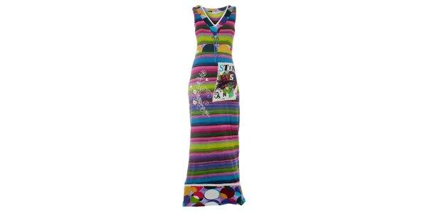 9449c1830220 Dámské dlouhé barevné pruhované šaty Savage Culture