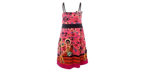 Dámské růžové šaty s motýlem Savage Culture