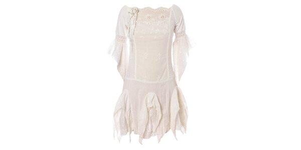Dámské bílé šaty Savage Culture s krajkou