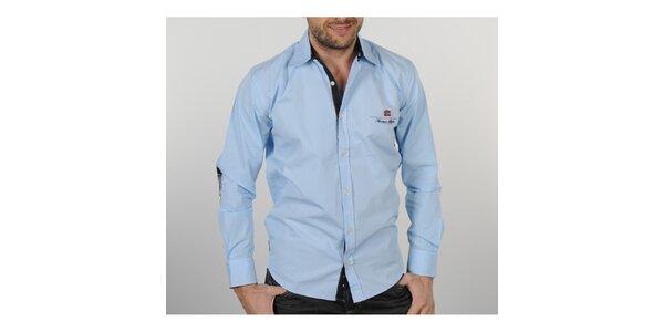 Pánská světle modrá košile s černými detaily Napapijri