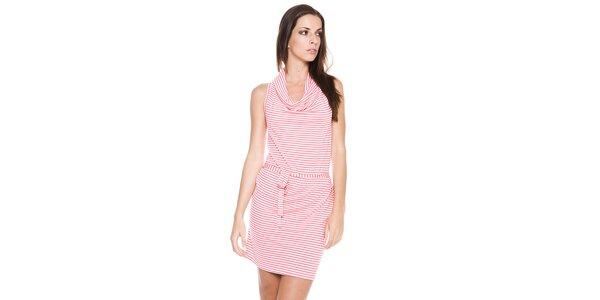 Dámské plážové šaty Bacirubati s růžovým proužkem