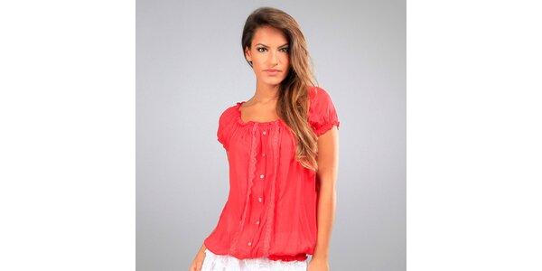 Dámská červená krajková blůzka Des Si Belles