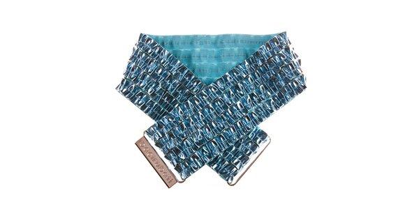 Dámský tyrkysově modrý metalizovaný pásek Bacirubati