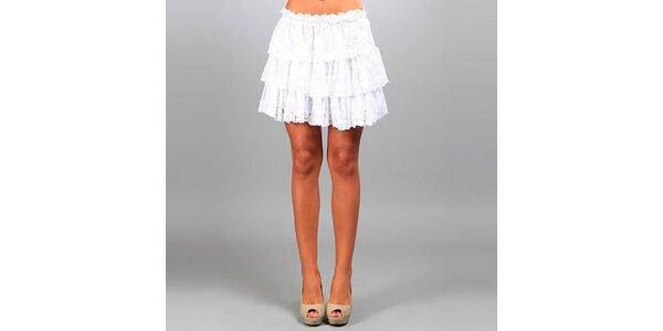 Dámská bílá krajková sukně Des Si Belles