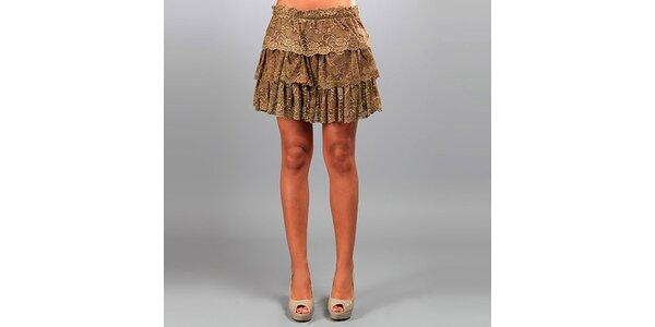 Dámská hnědá krajková sukně Des Si Belles