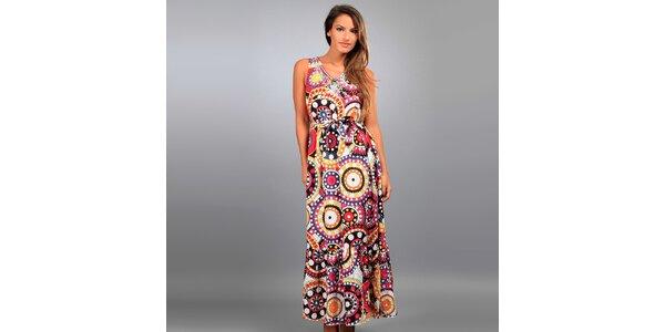 Dámské dlouhé šaty Des Si Belles s barevnými ornamenty
