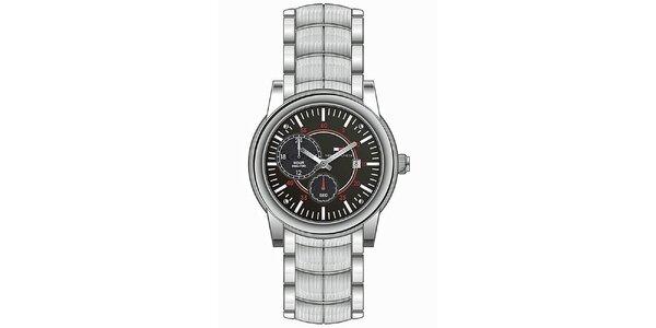 Pánské ocelové náramkové hodinky Tommy Hilfiger s černým ciferníkem