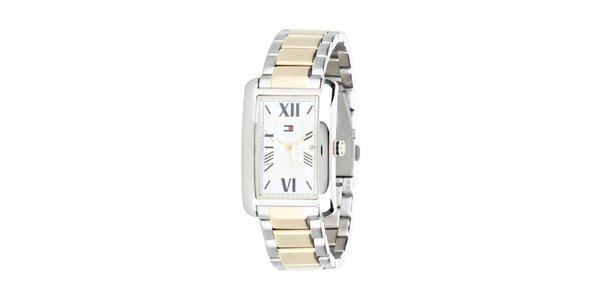 Pánské zlato-stříbrné hodinky Tommy Hilfiger