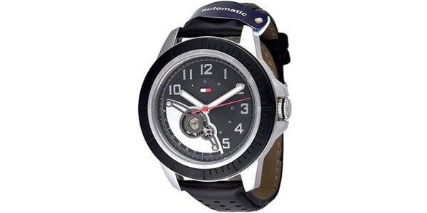 Pánské černé hodinky Tommy Hilfiger