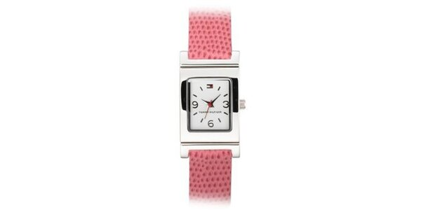 Dámské ocelové náramkové hodinky Tommy Hilfiger s lososvým páskem
