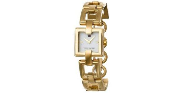 Dámské zlaté náramkové hodinky Tommy Hilfiger