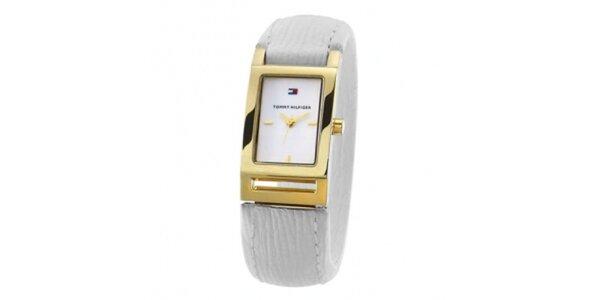 Dámské zlato-šedé náramkové hodinky Tommy Hilfiger