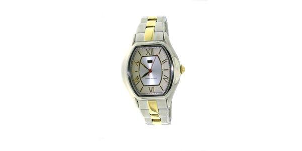 Dámské béžovo-zlaté náramkové hodinky Tommy Hilfiger