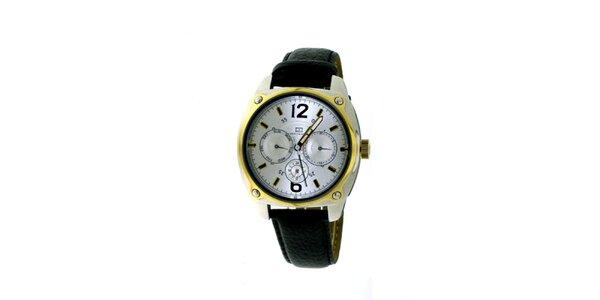 Dámské černo-zlaté náramkové hodinky Tommy Hilfiger