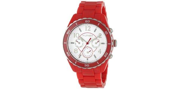 Dámské červené náramkové hodinky Tommy Hilfiger
