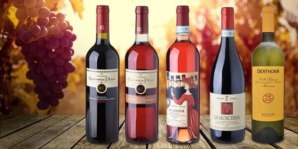 Set 3 vybraných italských vín pro vzácné chvíle