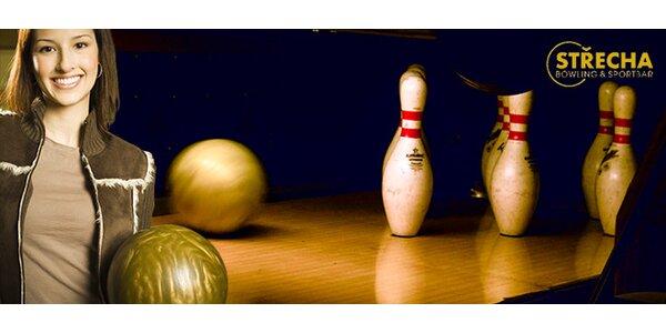 Bowling na 60 minut v podniku Střecha – bowling & sportbar