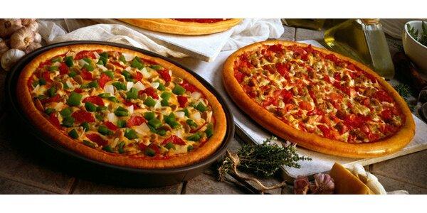 Dvě čerstvé pizzy + sleva na další nákup