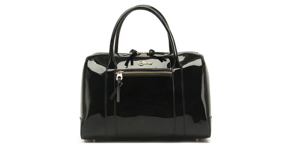 Dámská lesklá černá kabelka Florian London