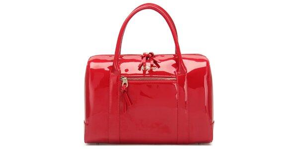 Dámská lesklá červená kabelka Florian London