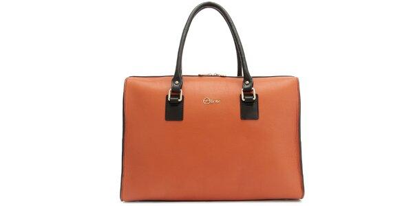 Dámská kožená oranžová kabelka Florian London