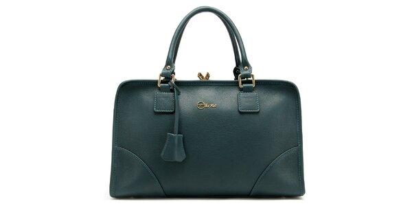 Dámská temně zelená kufříková kabelka Florian London