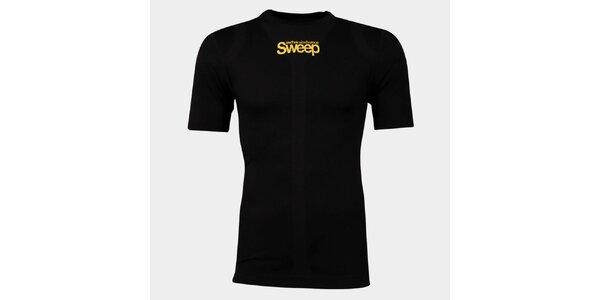 Pánské černé bezešvé tričko Sweep