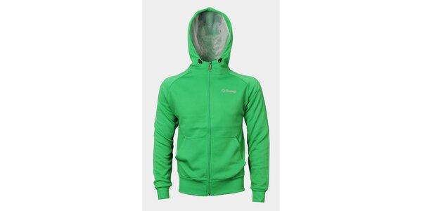 Pánská zelená mikina Sweep s kapucí