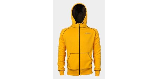 Pánská žlutá mikina Sweep s kapucí
