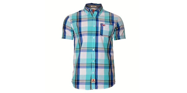 Pánská světle modrá kostkovaná košile Unitryb