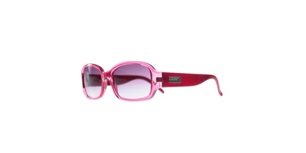 Dámské růžové sluneční brýle s fialovými skly Benetton