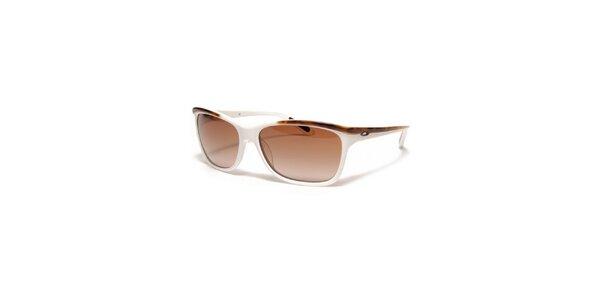 Dámské hnědo-bílé sluneční brýle Oakley