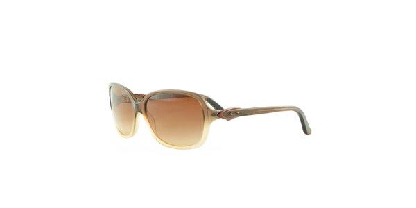 Dámské hnědo-žluté sluneční brýle Oakley