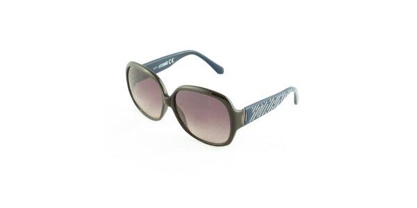 Dámské hnědo-modré sluneční brýle Just Cavalli