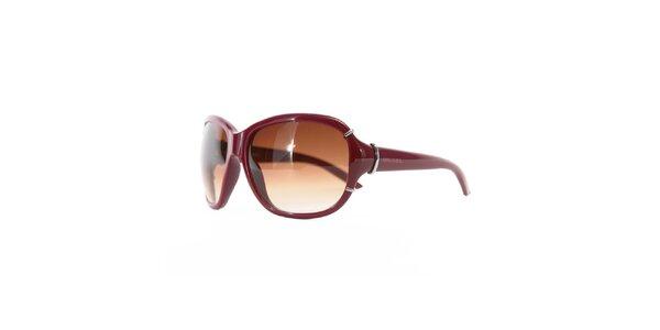 Dámské vínovo-hnědé sluneční brýle Diesel