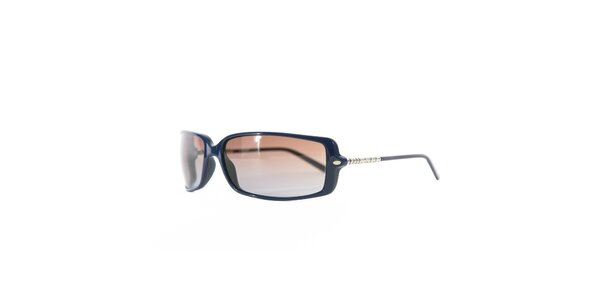Unisexové modré sluneční brýle s hnědými skly Diesel